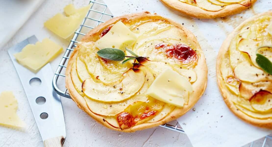 Tarte fine aux pommes et vacherin fribourgeois