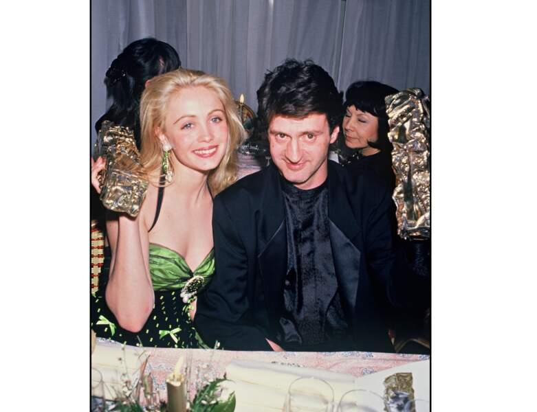 En 1987, le couple est complice et Emmanuelle Béart est blonde