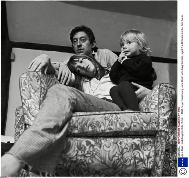 Serge Gainsbourg, Jane Birkin et Kate