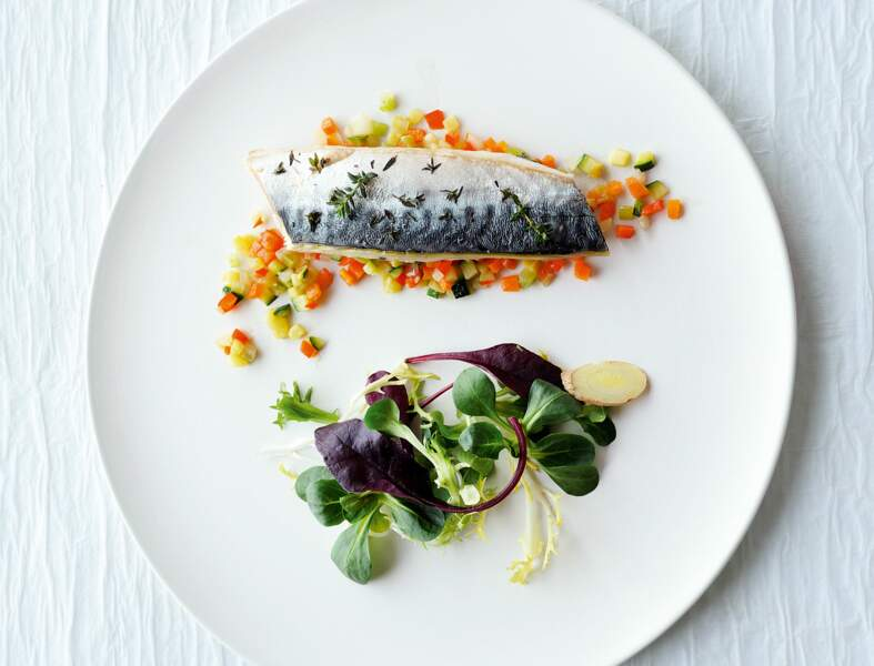 Recette légère : escabèche de maquereaux au gingembre et dés de légumes