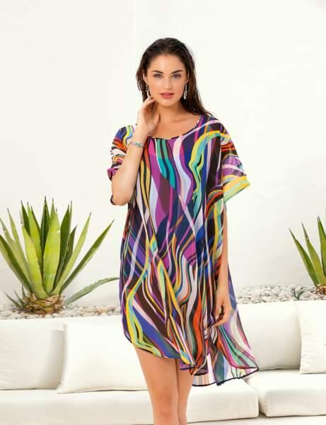 Robe de plage colorée