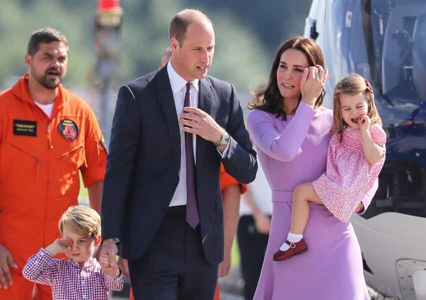 George, William, Kate et Charlotte