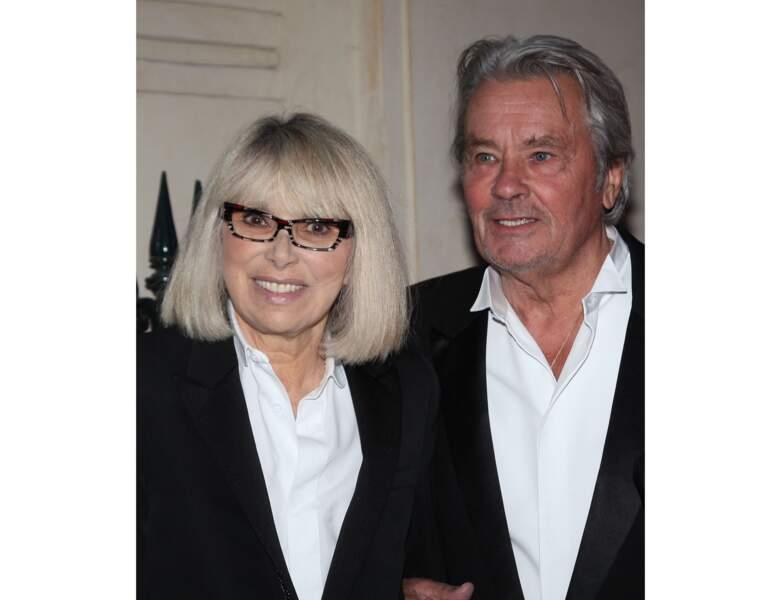 Toujours en 2013, Mireille Darc et Alain Delon sont présents au gala de l'IFRAD