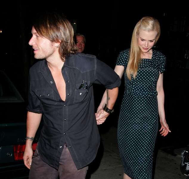 Nicole Kidman et Keith Urban dans les rues de New York le 6 octobre 2007.