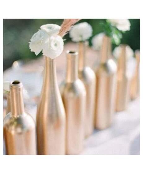 Des bouteilles de vin détournées