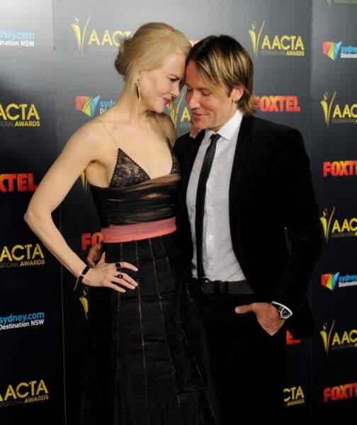 Nicole Kidman et Keith Urban arrivent à la 6ème cérémonie des AACTA International Awards à Hollywood en 2017.