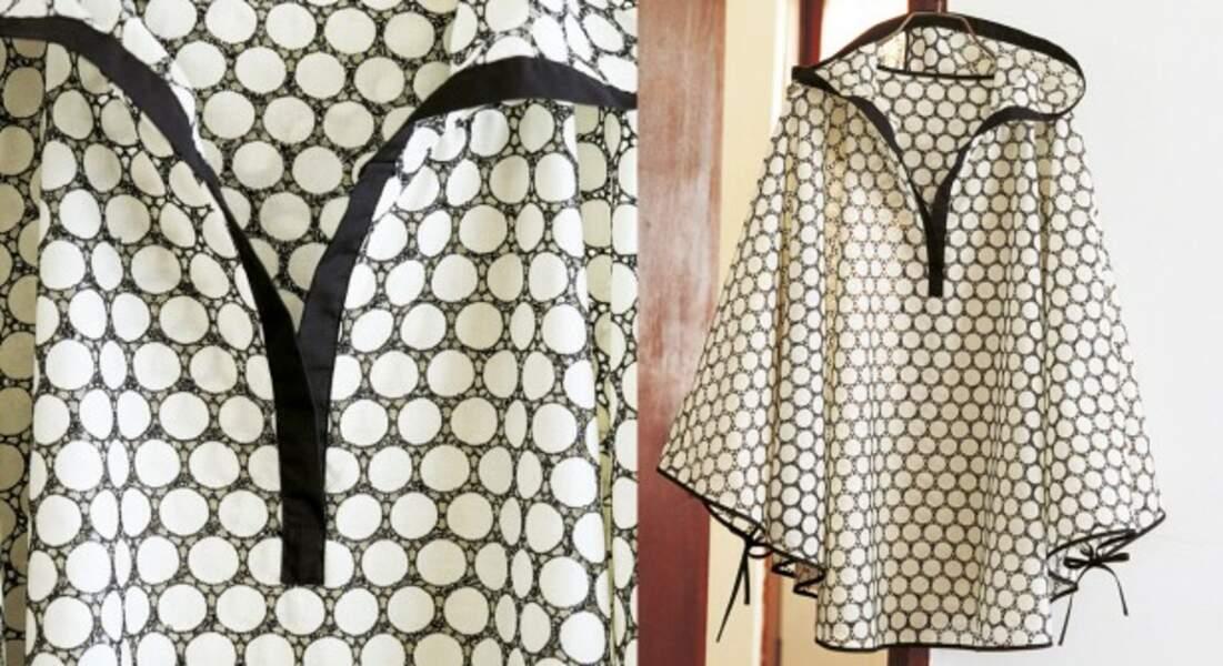 Couture facile : un poncho à capuche