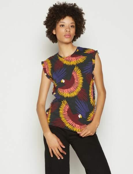 Nouveautés à moins de 30 € : le tee-shirt tropical