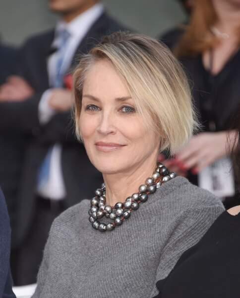 Le balayage blond de Sharon Stone