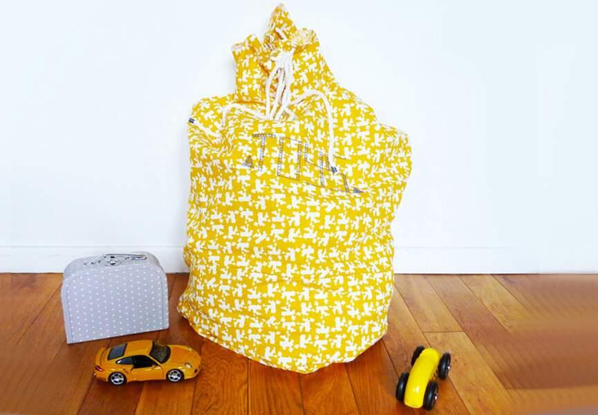 Un sac à jouets à confectionner