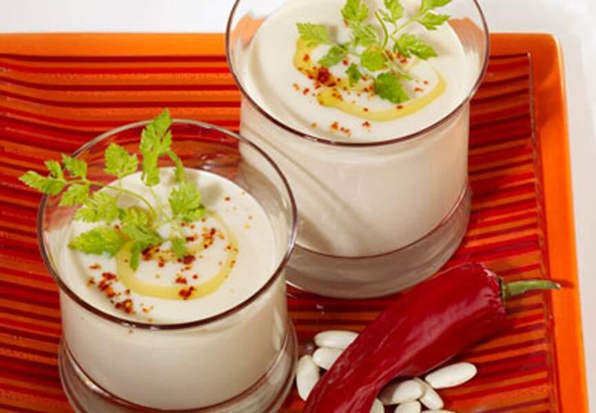 Gaspacho de haricots blancs