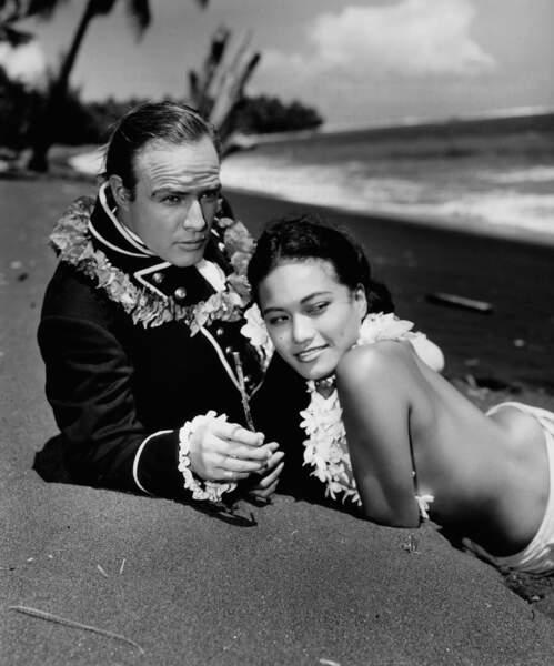 Marlon Brando et Tarita en 1962