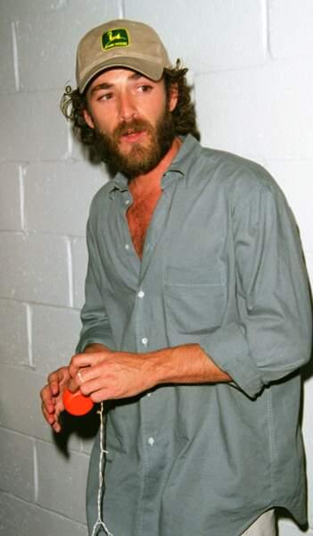 Luke Perry à la soirée du Rock and Roll Rally Kick en 2000.