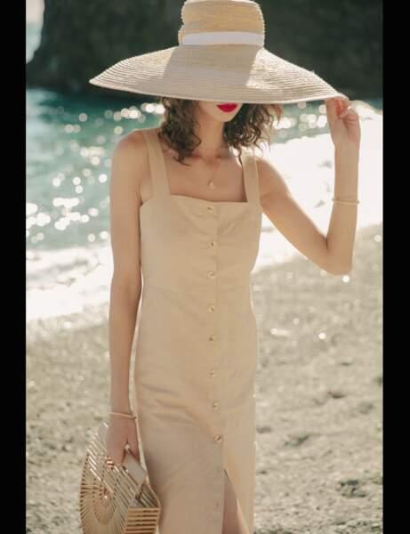 Robe d'été: droite
