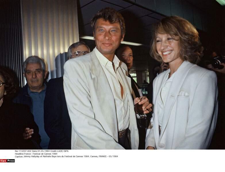 Johnny Hallyday et Nathalie Baye