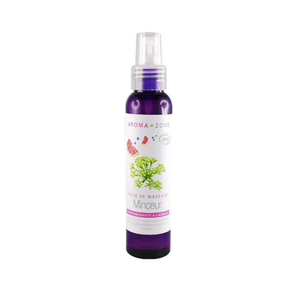 Huile de Massage Minceur BIO, Aroma Zone, flacon 100 ml, prix indicatif : 11 €