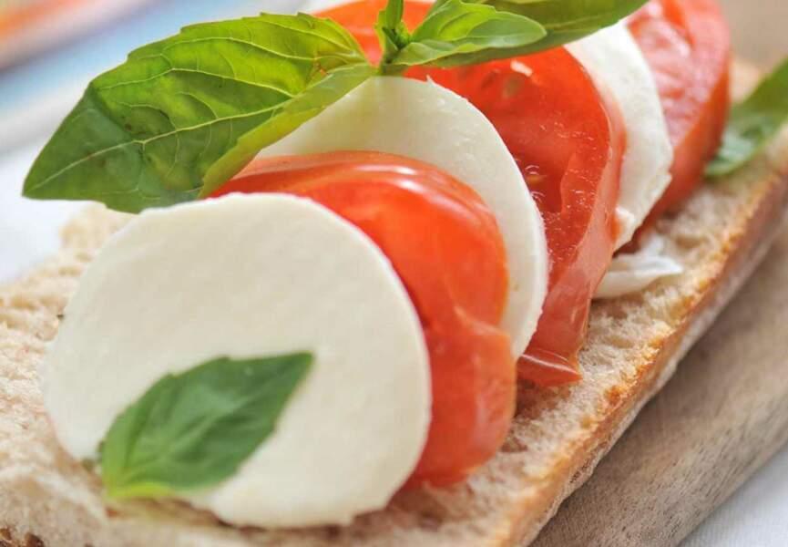 Tartines tomate mozzarella