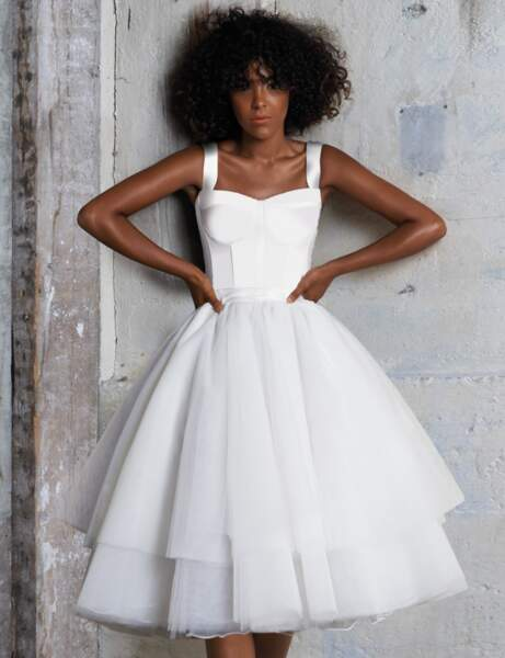 Robe blanche : princesse moderne