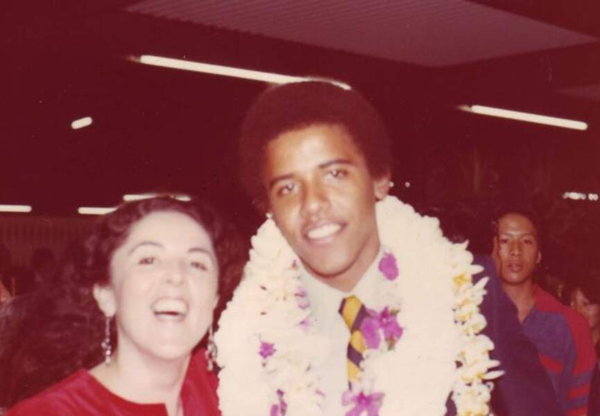 Ann et Barack Obama lors de la remise de diplôme.