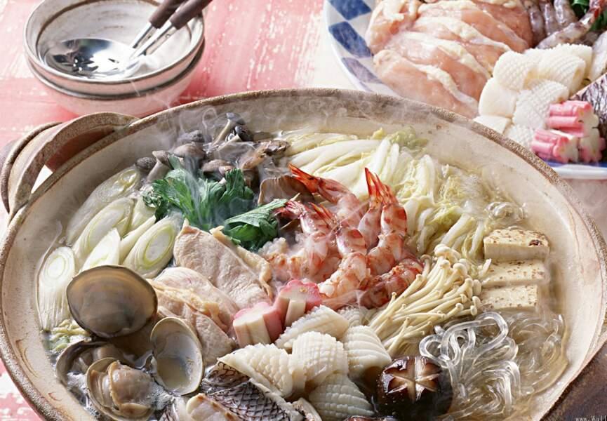 Fondue japonaise aux fruits de mer et konjac