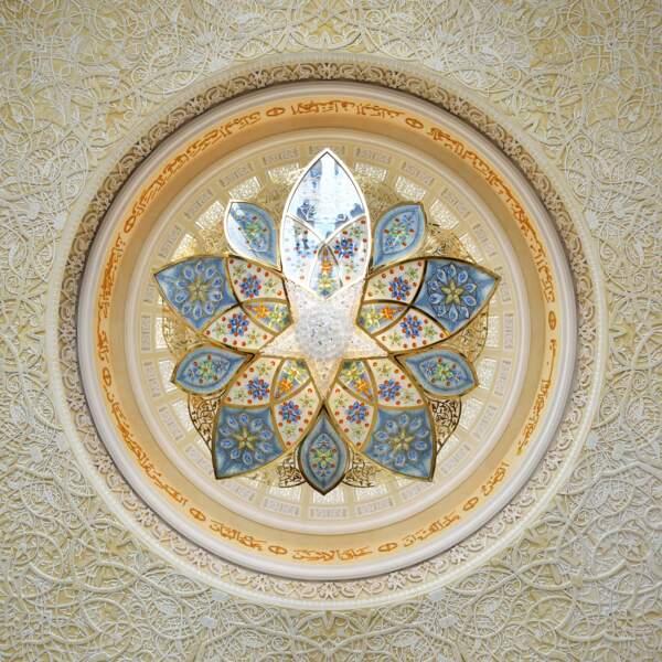 Mosquée Sheikh Zayed, chandelier