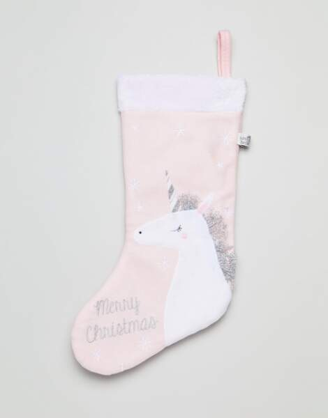 Chaussette de Noël licorne