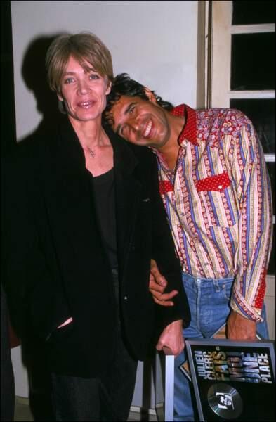 Françoise Hardy et Julien Clerc en 1990.