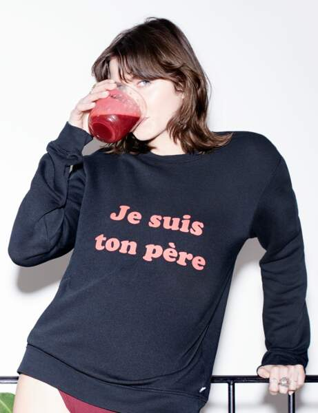 Mode à message : le sweat de fan