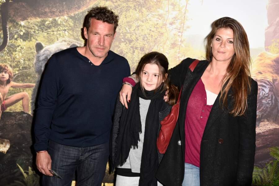Benjamin Castaldi, son épouse Aurore Aleman et sa fille : 2016