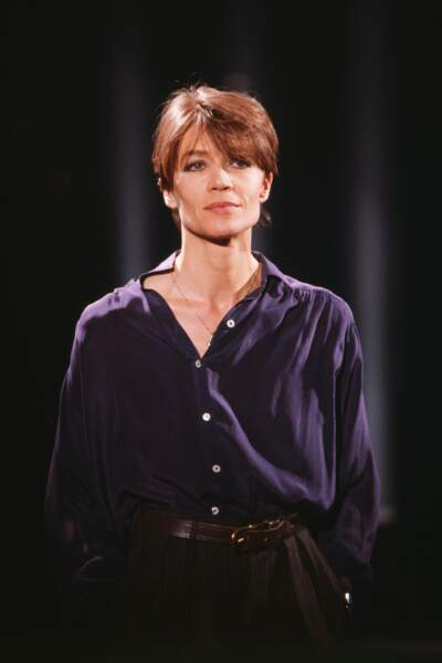 Portrait de Françoise Hardy en 1991.
