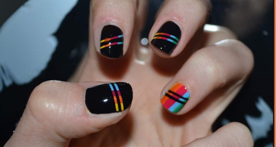 Coup de coeur du jury : le nail art graphique chic