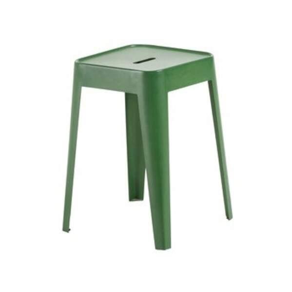 Tabouret en métal vert