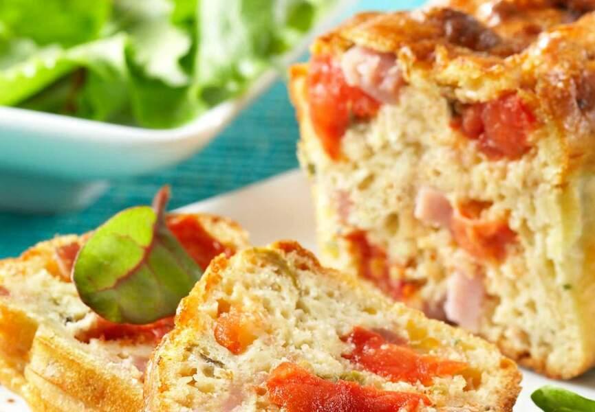 Cake au jambon et aux poivrons