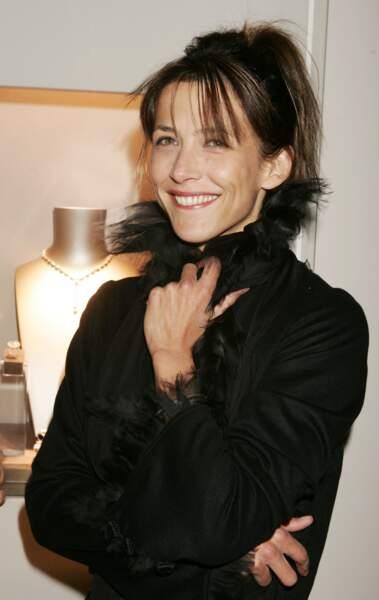 """Sophie Marceau lors de l'exposition Chaumet """"Napoléon amoureux"""" en 2004."""
