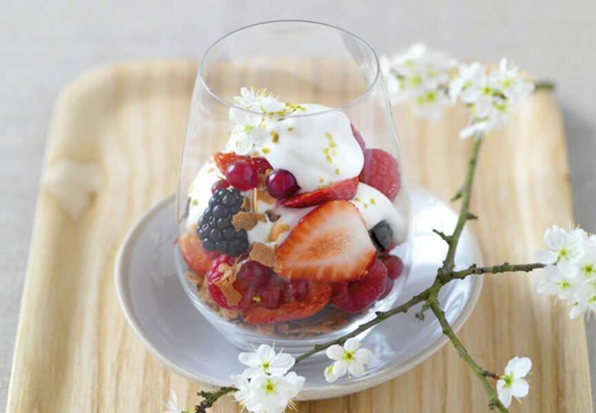 Timbale de fruits frais et brassé vanille Bio Nat