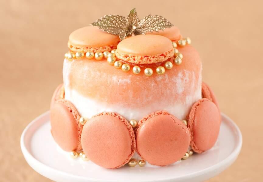 Gâteau glacé aux macarons