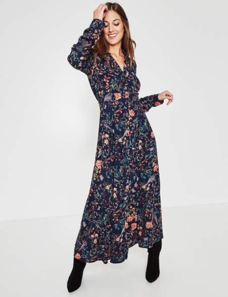 Robes A Fleurs Nos 20 Modeles Coup De Coeur Pour Un Hiver Boheme Et Chic Femme Actuelle
