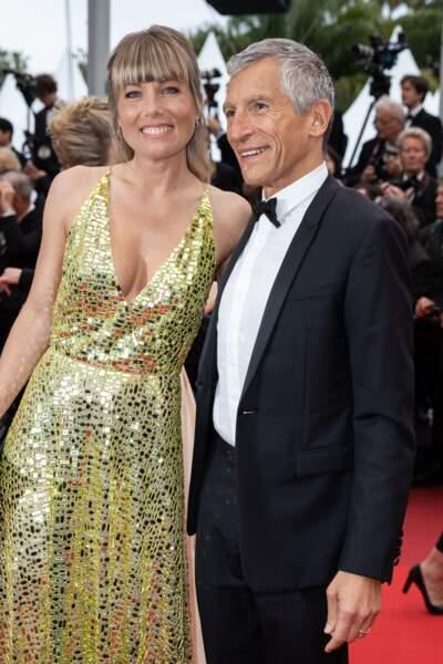 Nagui et son épouse Mélanie Page, amoureux devant les photographes à Cannes