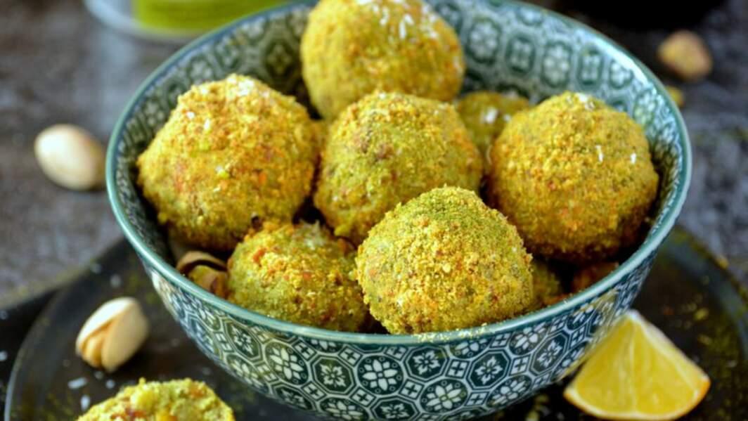 Truffes crues pistache, coco et moringa