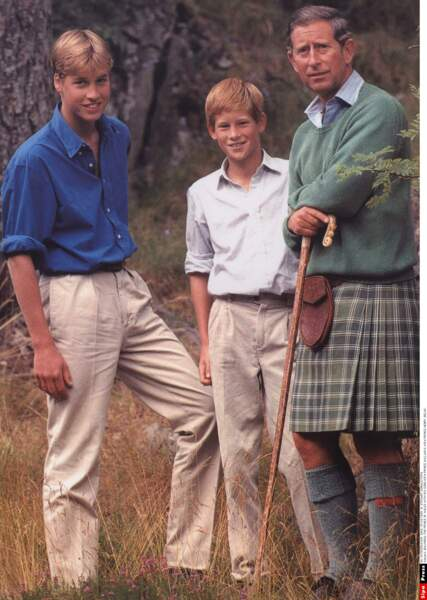 William, Harry et Charles