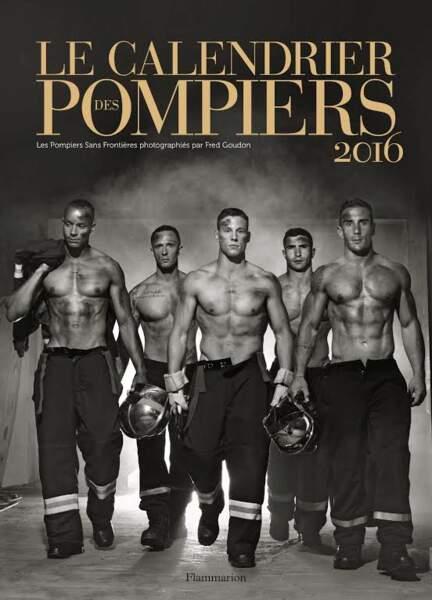 La couverture du calendrier des pompiers