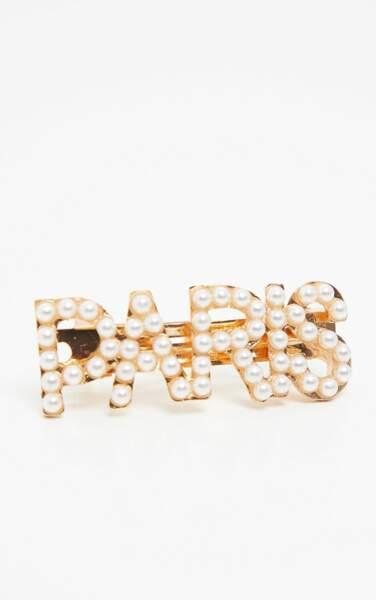 La barrette sertie de perles à message