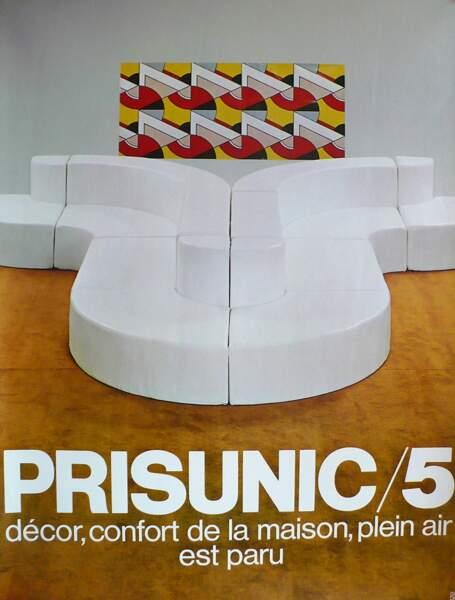 Affiche reprenant la couverture du catalogue Prisunic n°5
