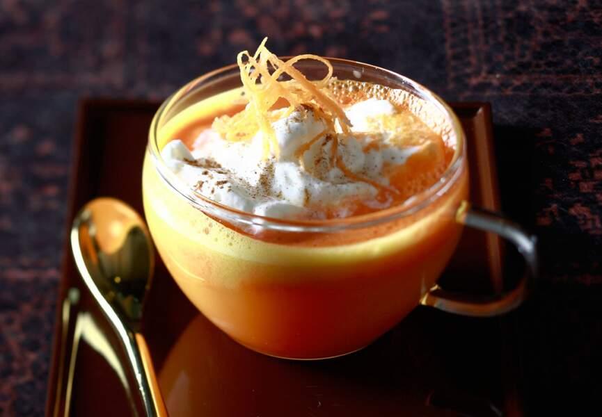 Smoothie aux carottes et à l'orange