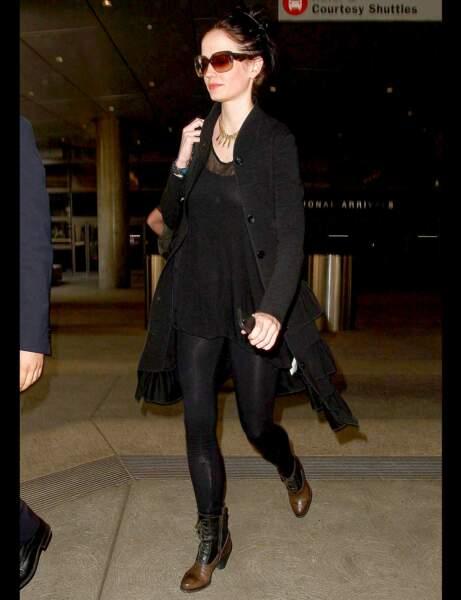 Les bottines bicolores d'Eva Green