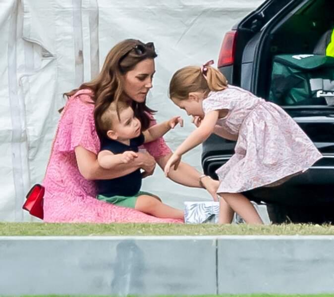 Kate Middleton lors de la journée du match de polo a paru également être de son côté.
