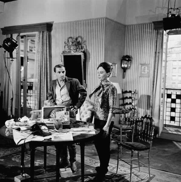 Acteur, il a tourné avec les plus belles actrices, ici Leslie Caron sur le tournage des 4 Vérités