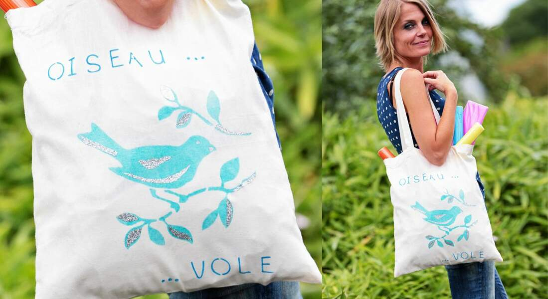 Mon totebag customisé au pochoir