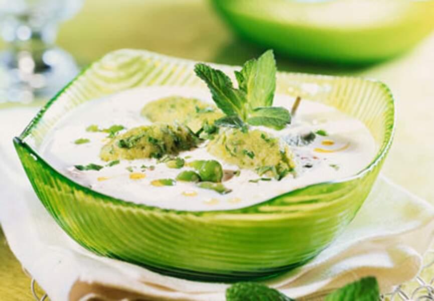 Crème froide de ricotta aux légumes