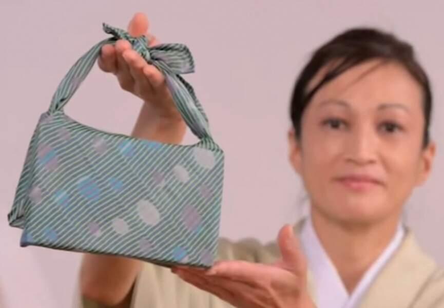 Un sac en pliage furoshiki